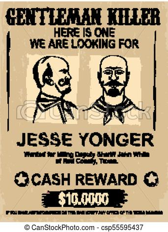 342x470 Vintage Wanted Poster. Vintage Poster With Hand Drawn Grunge