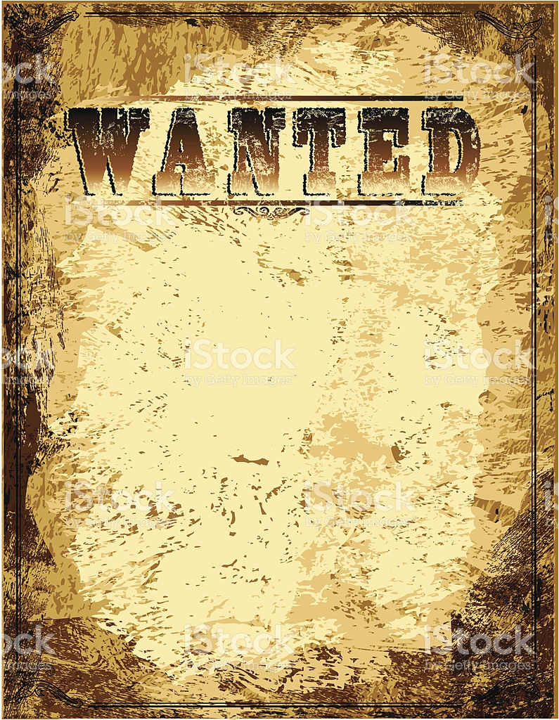 Wanted Poster Vector At Getdrawings Free For Personal Use