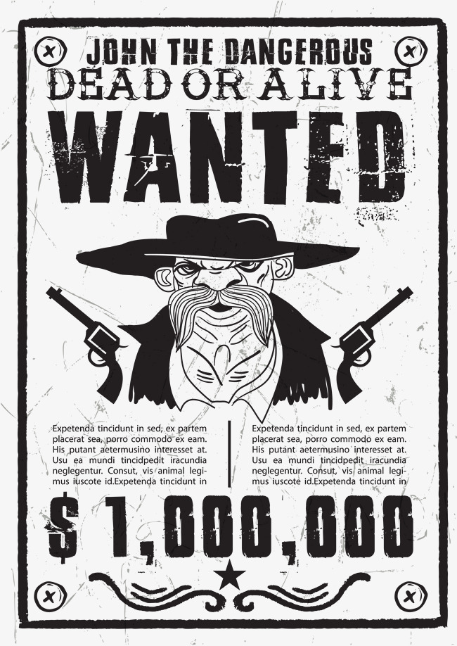 650x918 Cowboy Wanted Posters, Cowboy Vector, Retro, Wanted Black Png And