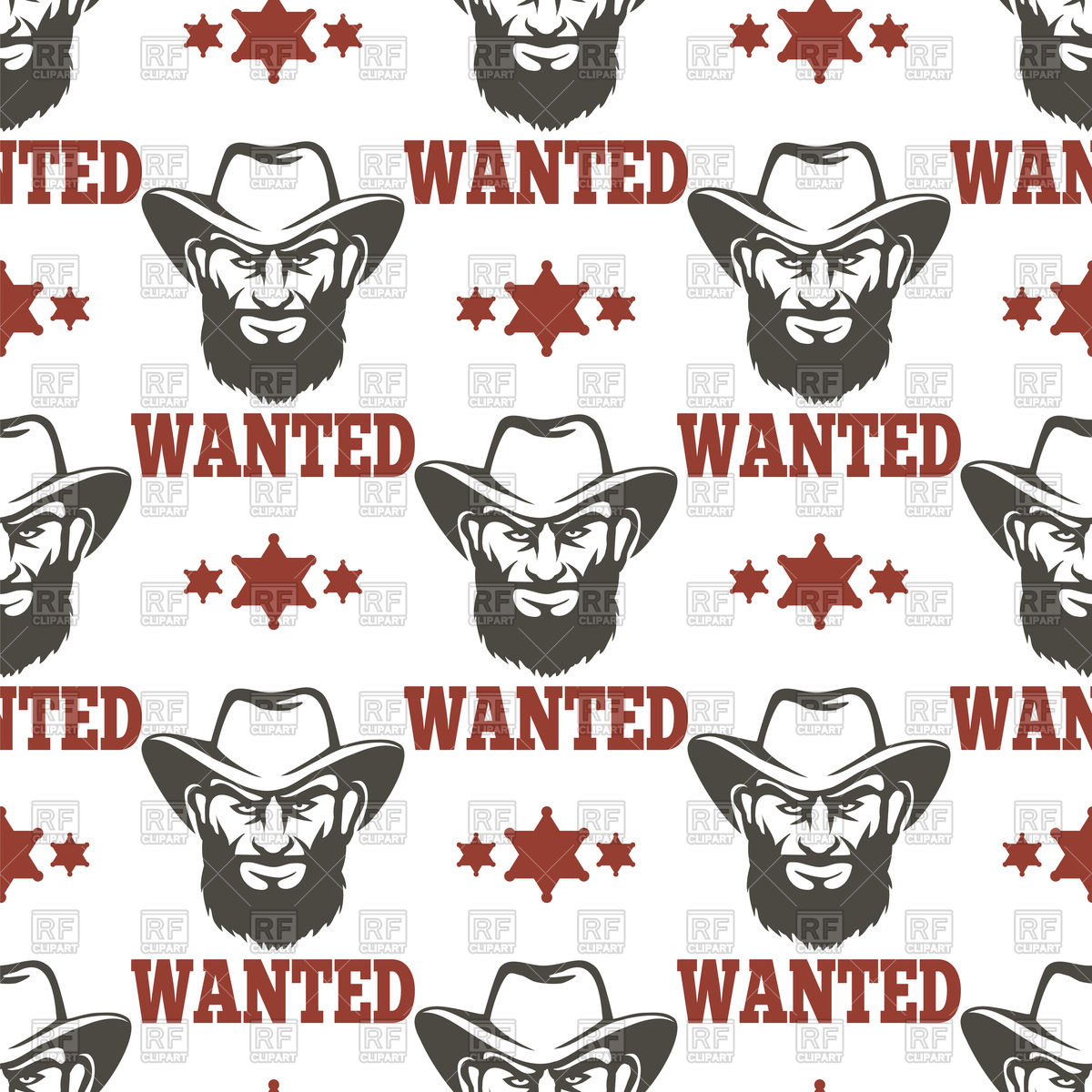 1200x1200 Criminal Background With Men, Sheriff Stars And Lettering Wanted