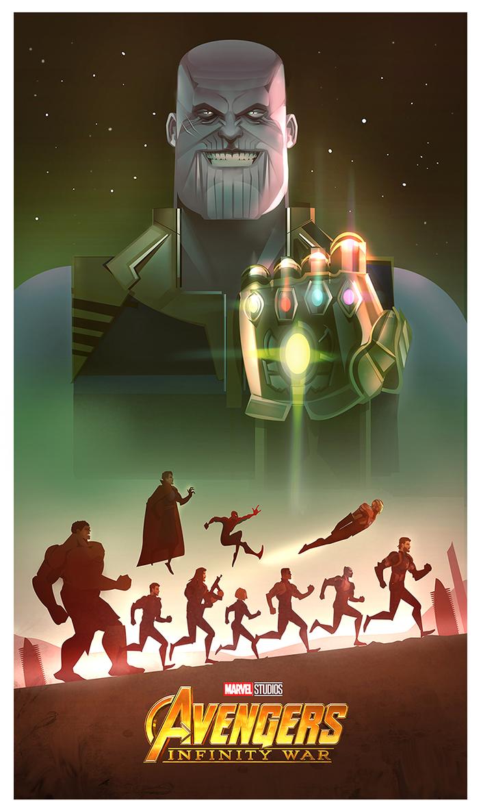 703x1181 Infinity War Illustration Vector Art On Behance