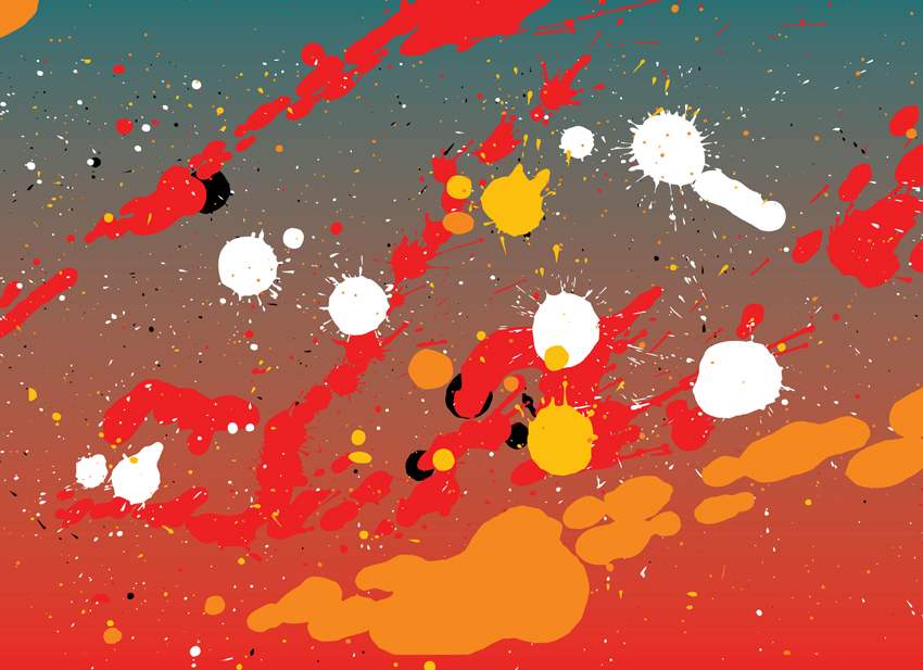 850x617 Paint Splash War Vector Art Amp Graphics
