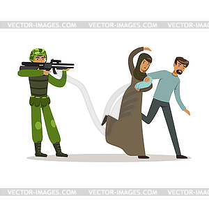 300x300 Stateless Refugee Family Couple Escaping Of War