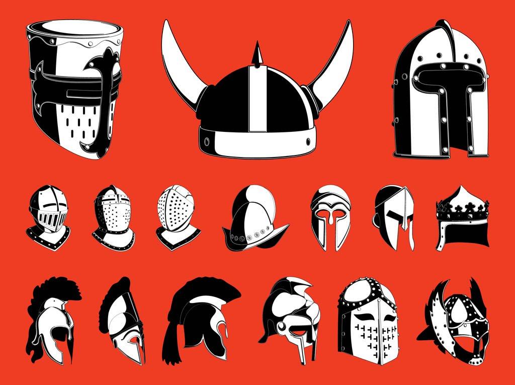 1024x765 War Helmets Set Vector Art Amp Graphics