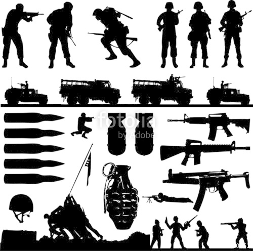 500x496 War Collage (Vector) Stock Image And Royalty Free Vector Files On