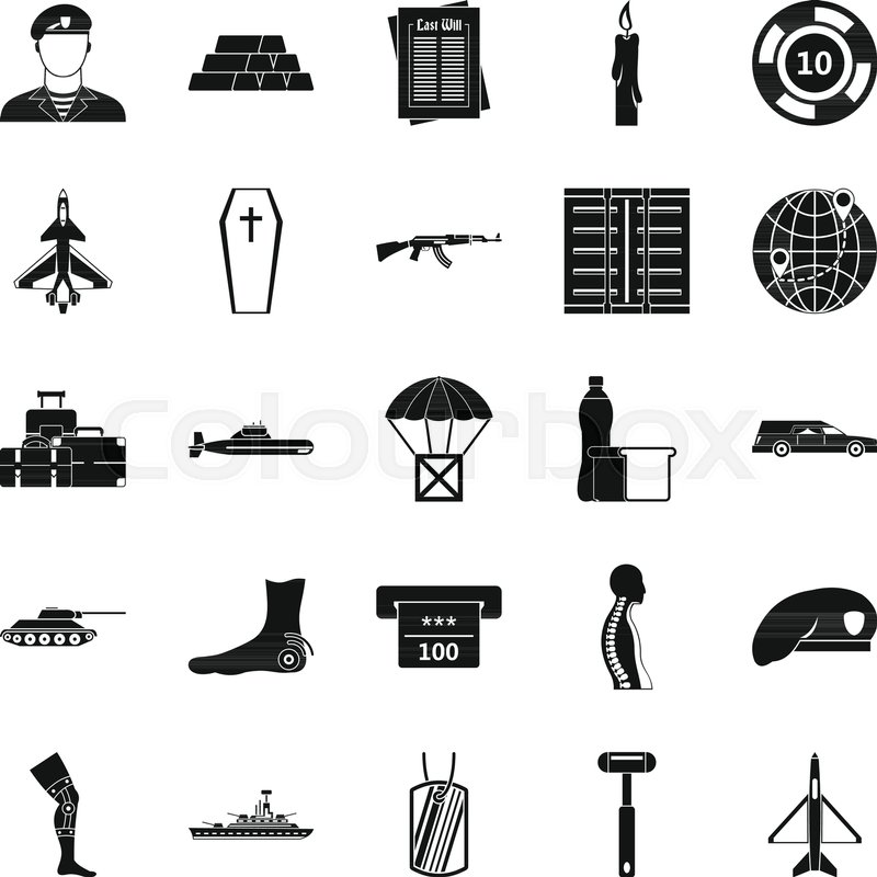 800x800 Consequence Of War Icons Set. Simple Set Of 25 Consequence Of War