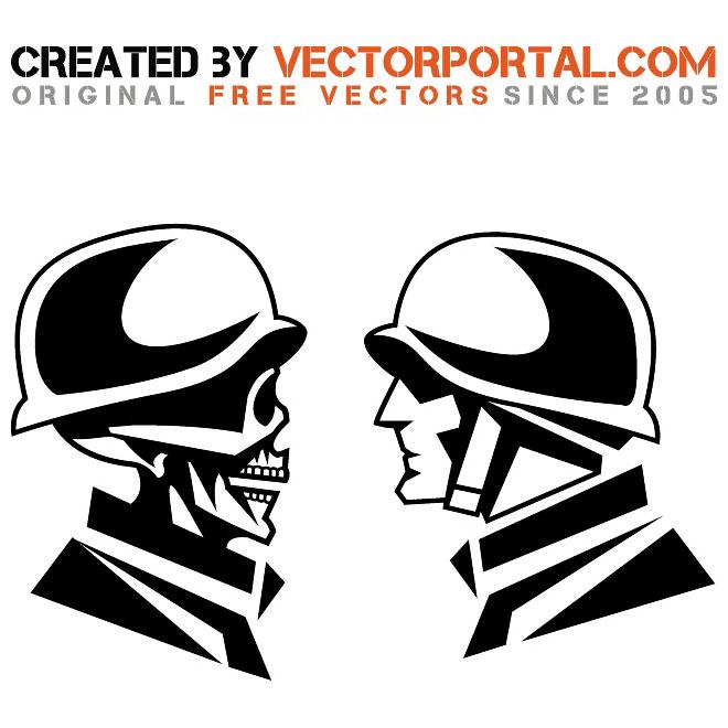 660x660 Faces Of War Vector Illustration