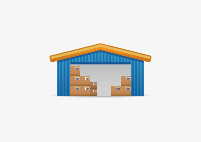 650x461 Vector Warehouse, Vector, Storehouse, Yellow Png And Vector For
