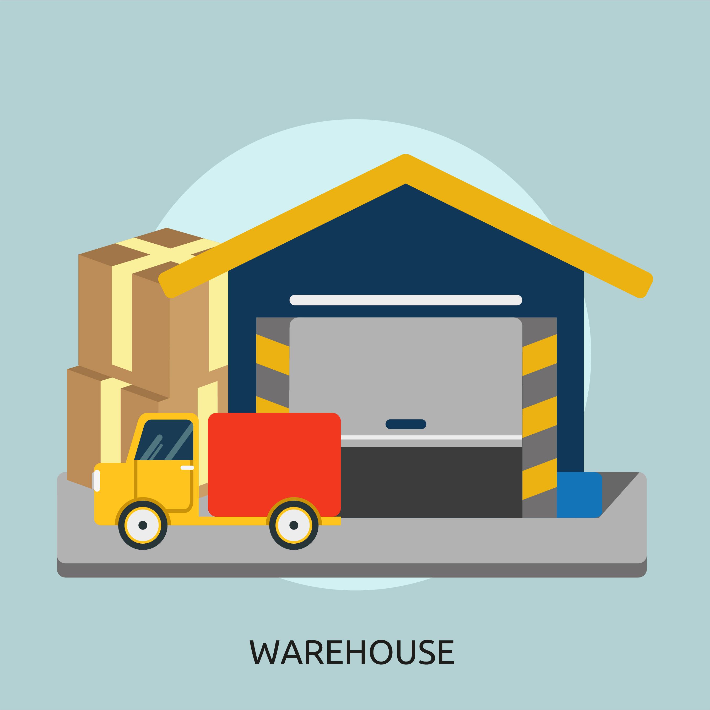 2709x2710 Warehouse Vector Image