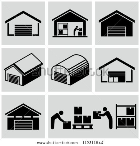 450x470 Warehouse Clipart Black And White Collection