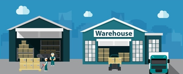 600x245 Warehouse Vector Free Vector Download (44 Free Vector) For