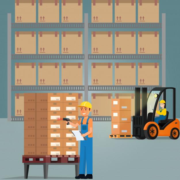 626x626 Workers In The Warehouse Vector Premium Download
