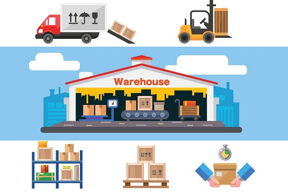 580x386 Warehouse Vector