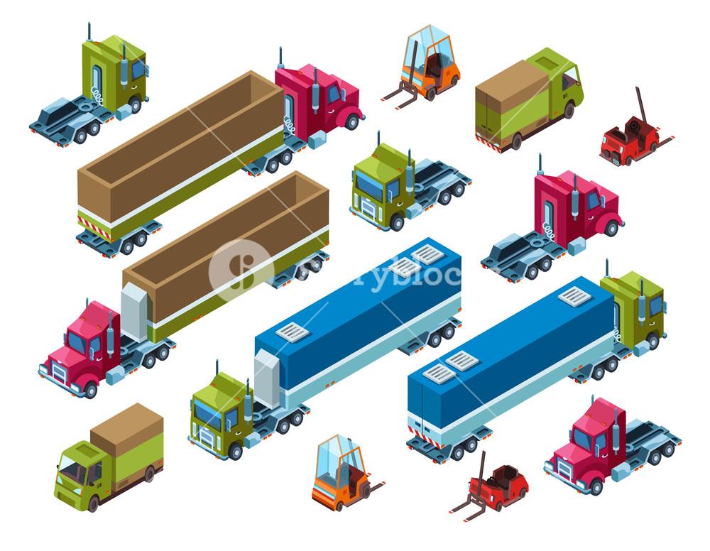 1000x776 Cargo Transport Vector Illustration Of Isometric Logistics