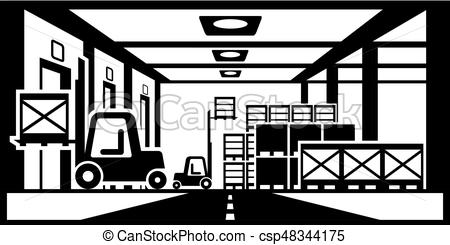 450x245 Forklifts Distribute Pallets In Warehouse