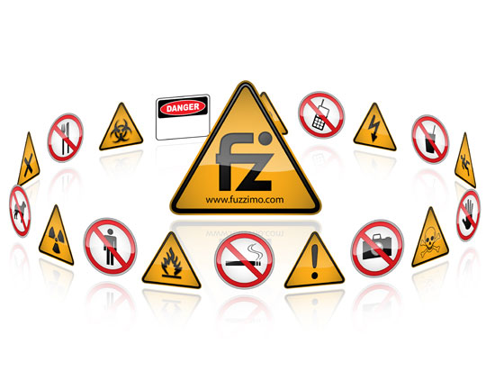 550x412 Free Vector Hazard And Warning Signs Fuzzimo