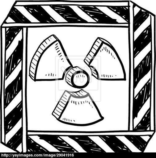 505x512 Radiation Warning Vector Sketch Vector