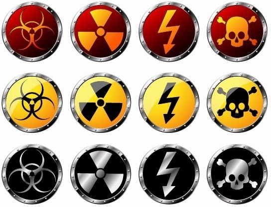 544x416 Round Radiation Warning Vector Graphics Free Vector In