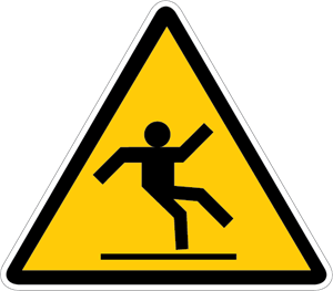 300x263 Slippery Surface Warning Sign Logo Vector (.eps) Free Download