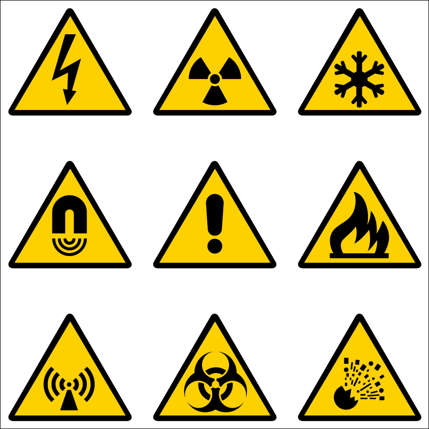 851x851 Vector Construction Site Warning Label Free Vector 4vector