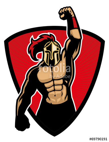 383x500 Big Muscle Warrior Stock Image And Royalty Free Vector Files On