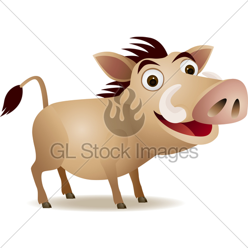 500x500 Warthog Cartoon Gl Stock Images