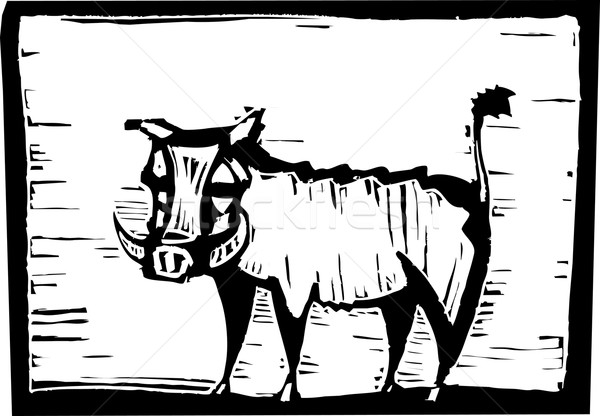 600x416 African Warthog Vector Illustration Jeffrey Thompson (Xochicalco