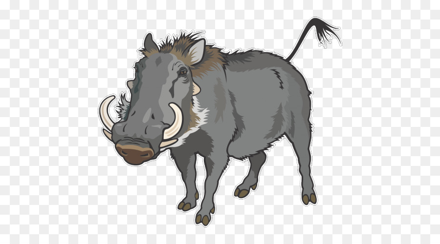 900x500 Common Warthog Wild Boar Clip Art Vector Graphics Illustration