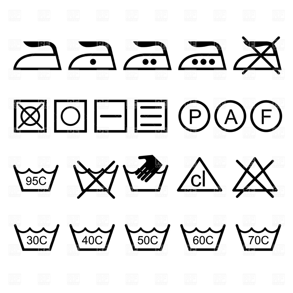 1200x1200 Laundry Icons Vector Image Vector Artwork Of Icons And Emblems