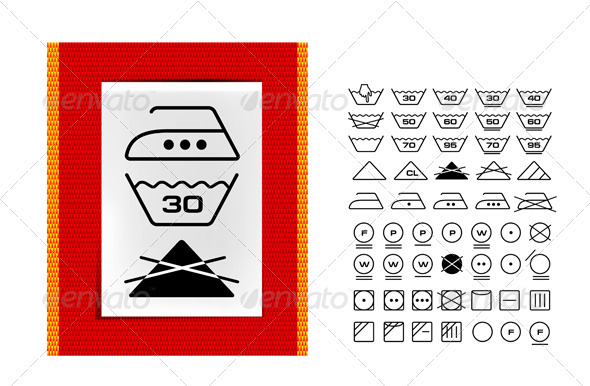 590x386 Washing Symbols On Clothing Labels By Sermax55 Graphicriver