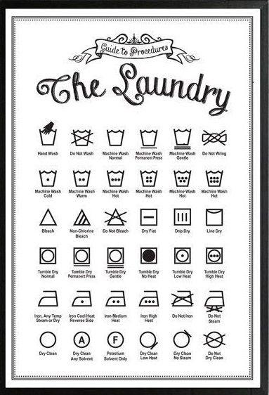 383x562 Customizable Laundry Symbols Print