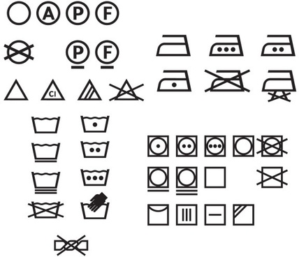 428x368 Washing Care Symbols Vector Free Vector Download (22,177 Free