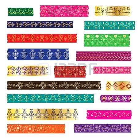 450x450 Washi Tape Patterns Paisley Patterns Tape Vector Cool Washi Tape