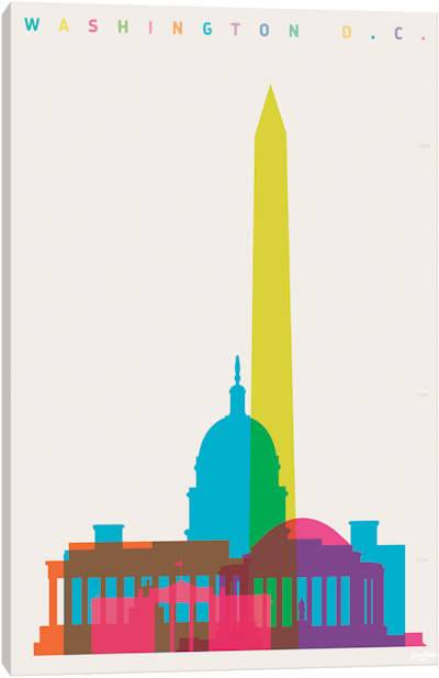 400x617 Graphic Design Washington Dc Colorful Washington Dc Skyline Vector