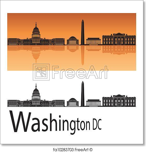 561x581 Free Art Print Of Washington Dc Skyline. Washington Dc Skyline In