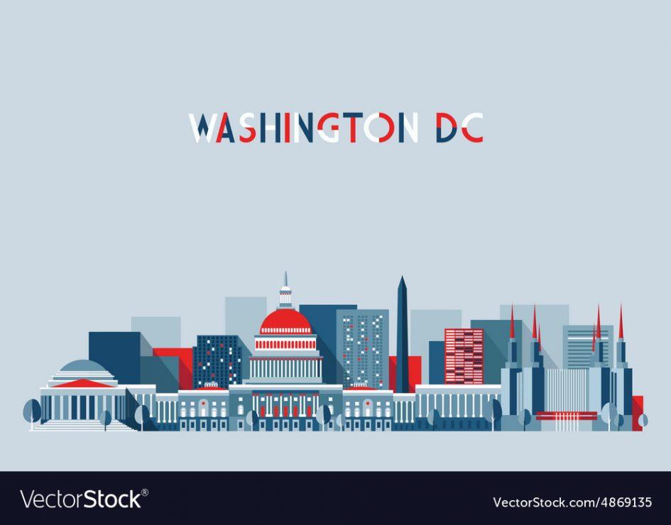 945x740 Logos. Logo Design Washington Dc Washington Dc Skyline Flat