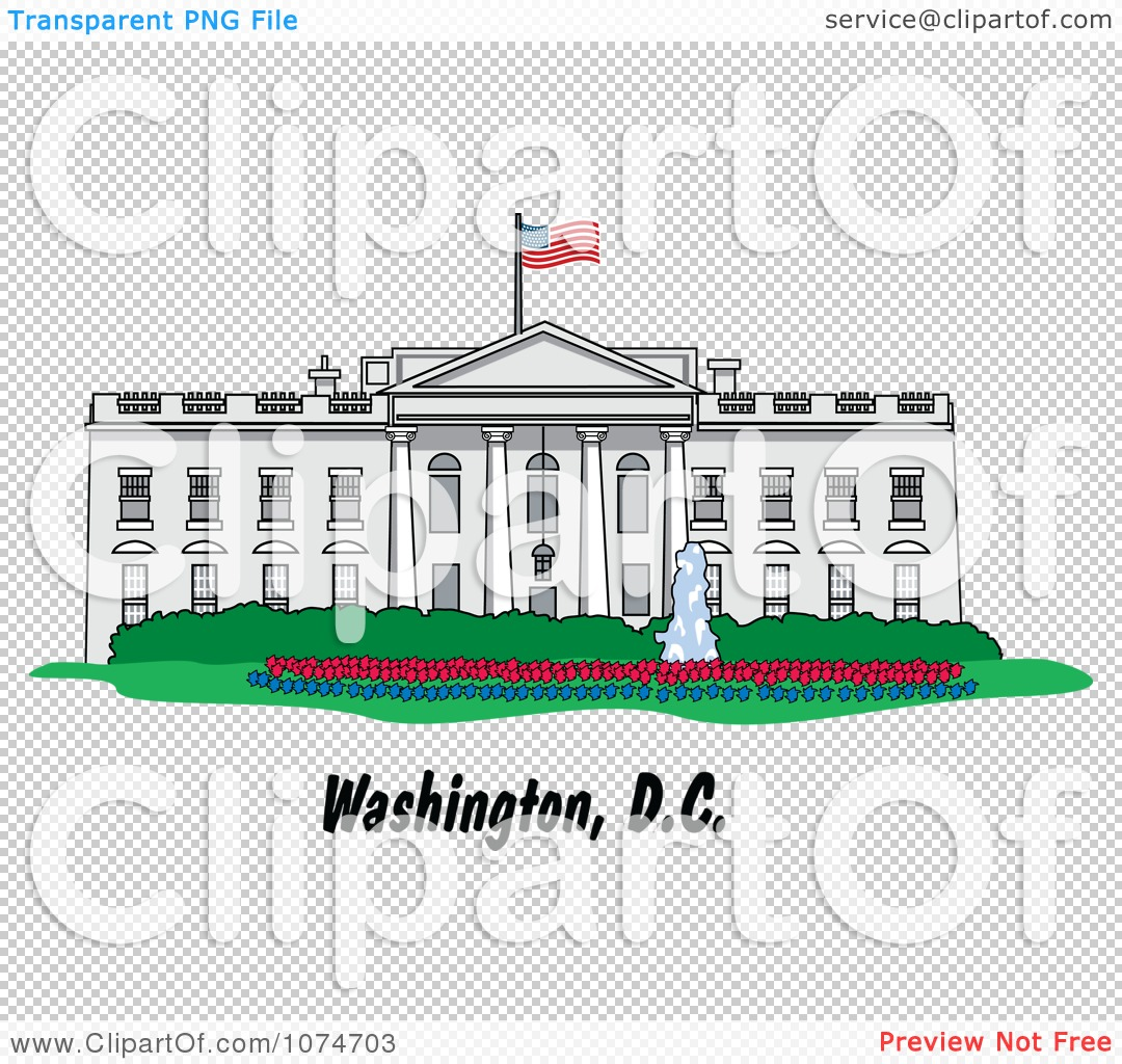 1080x1024 Clipart The White House Building In Washington Dc, White House