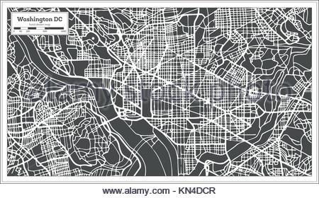 450x280 Washington Dc Map Outline Urban Vector City Map Of Washington Dc