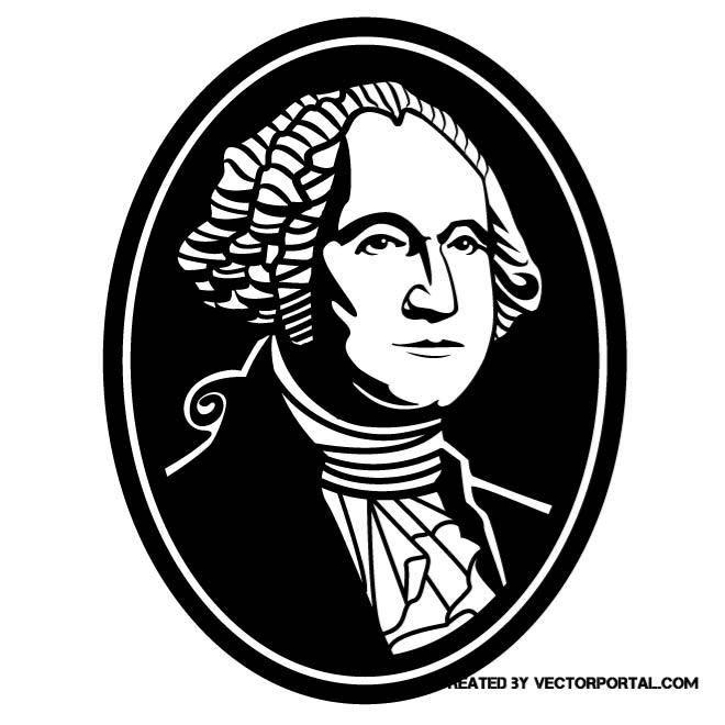 660x660 George Washington Vector Portrait. Izvestnye Liudi Siluet
