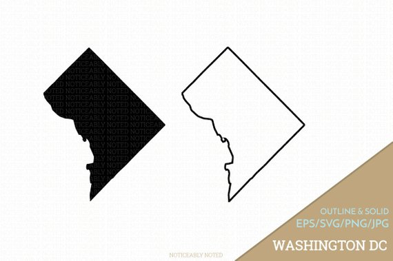 570x379 Washington D.c. Vector Washington Clipart Dc Clip Art Etsy