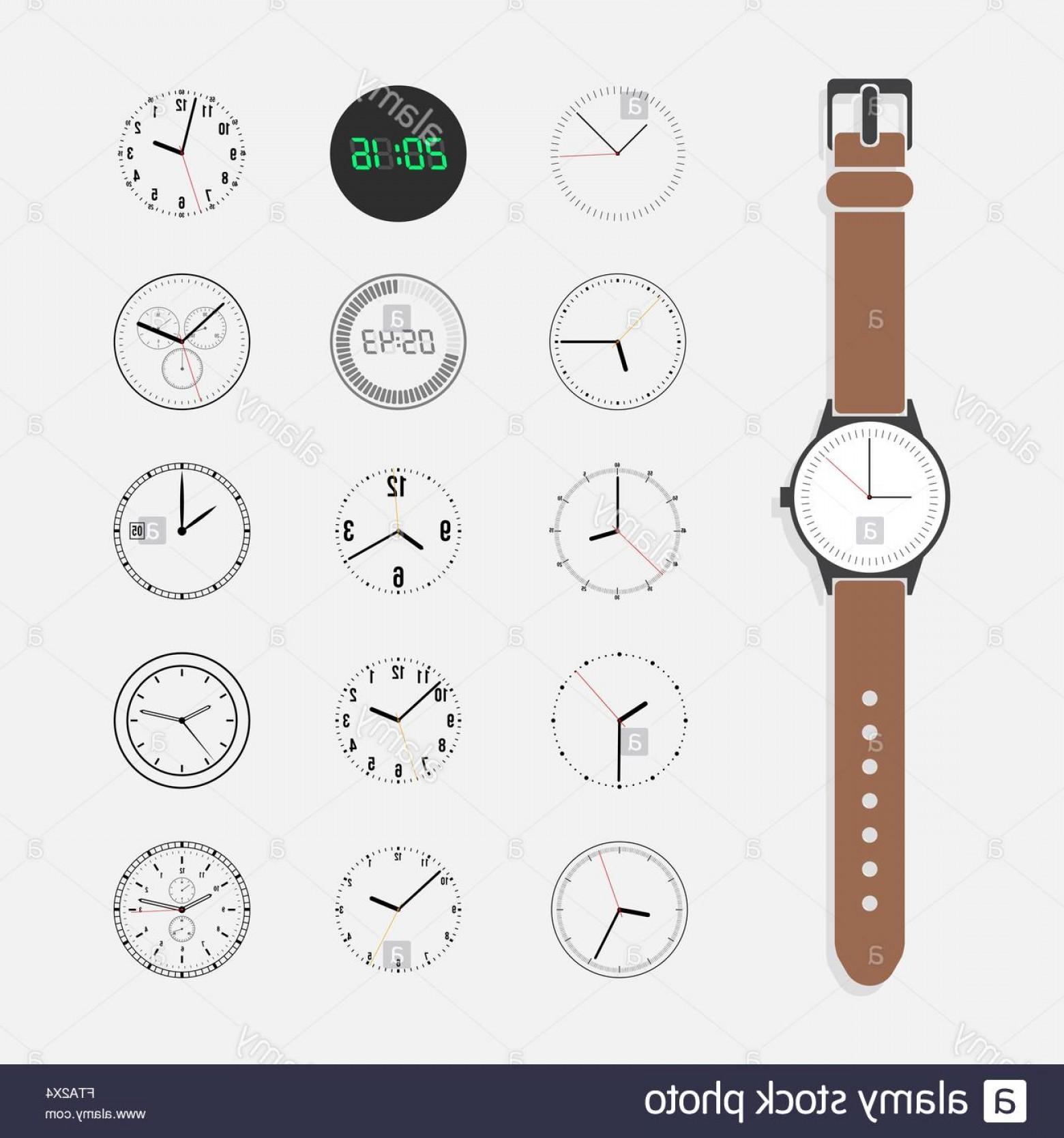 1560x1668 Stock Photo Watch Face Vector Set Createmepink