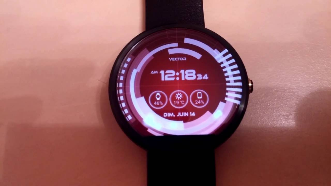 1280x720 Vector Gui Watch Face On Android Wear