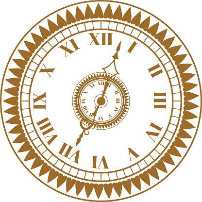 416x416 Watch Face Antique Clock Vector Illustration Stock Vectors