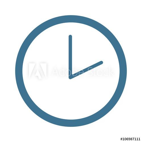 500x500 Watch Face Antique Clock Vector Illustration.