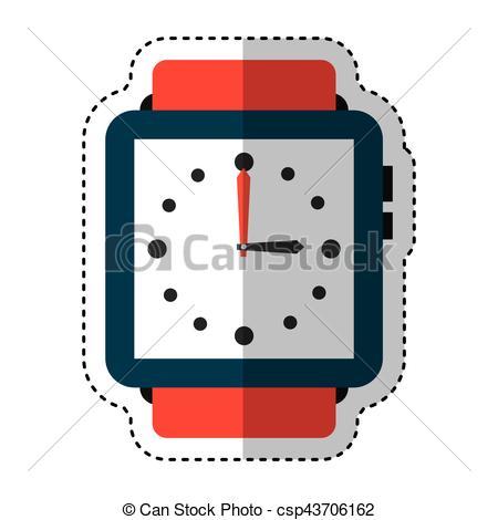 450x470 Masculine Hand Watch Icon Vector Illustration Design.