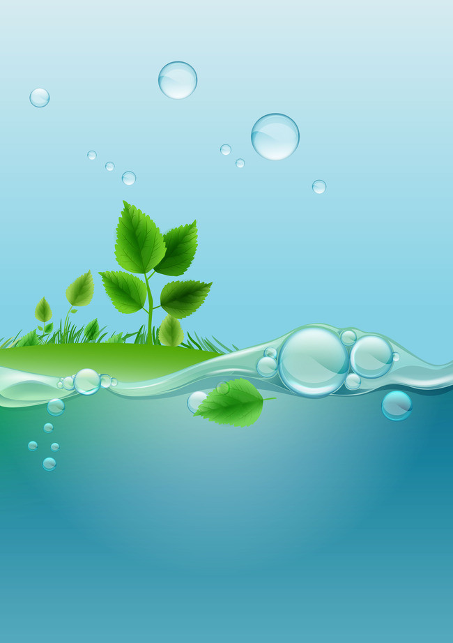 650x922 Leafy Green Background Vector Water, Vector, Blue, Water Elemental