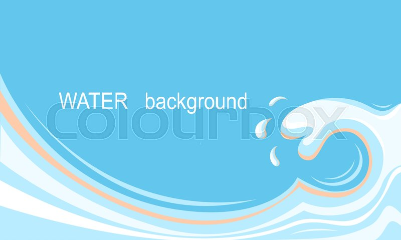 800x479 Water Splash Background.vector Blue Illustration For Text Stock