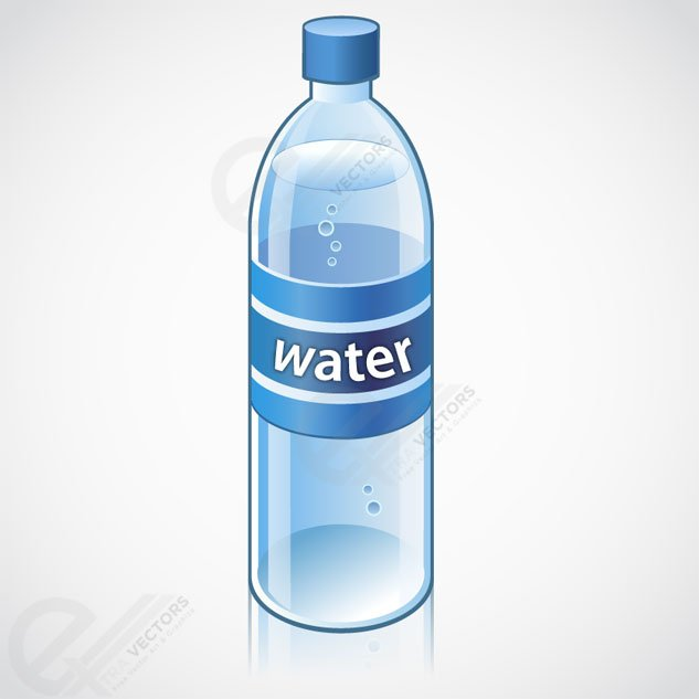 633x633 Free Water Bottle Vector Object Free Download Psd Files, Vectors