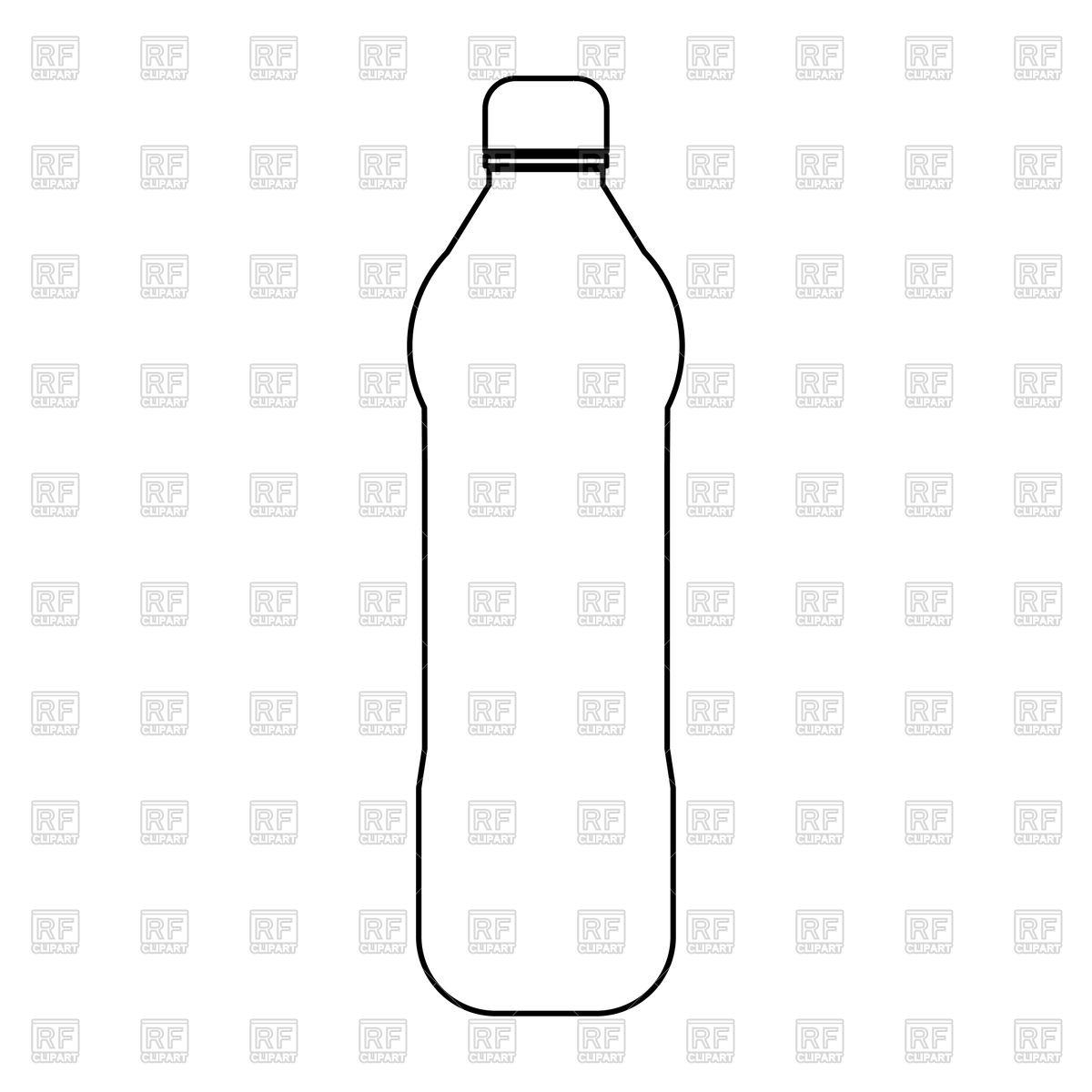 1200x1200 Plastic Water Bottle Outline Vector Image Vector Artwork Of