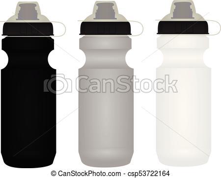 450x363 Sport Water Bottle. Vector Illustration.